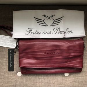 NEW Fritzi Aus Preuben Burgundy 3 in 1 Vegan Bag